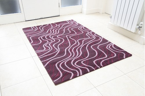 100% Wool Purple Ella Claire Vibrance Indian Rug Handmade in India with a 18mm pile