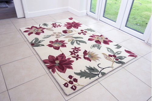 100% Wool Multi Ella Claire Exclusive Indian Rug Handmade in India with a 18mm pile