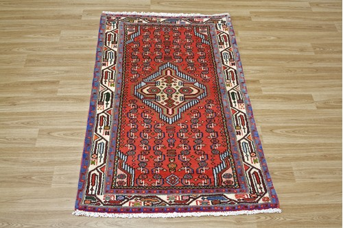 100% Wool Multi Persian Hamadan Rug HAM009000 125 x 75 Handknotted in Iran with a 11mm pile