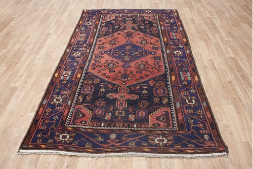 100% Wool Persian Hamadan Rug HAM020000 236 x 133 Handknotted in Iran with a 11mm pile