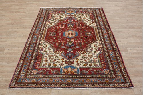 Persian Fine Hamadan rug HAM020FIN 224x155,100% Wool ,10mm,Handknotted in Iran.