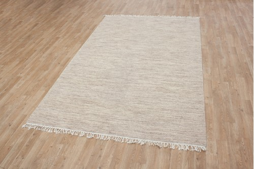 Wool woven onto Cotton Indian Dhurrie Rug Handmade in India with a 5mm pile