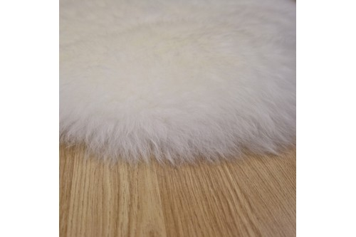 100% Wool Cream Australian Double Natural Sheepskin  in Australia with a pile