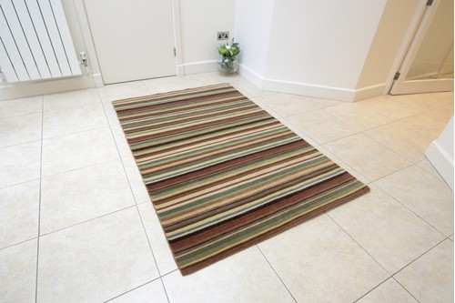 100% Wool Multi Indian Infinity rug design Handknotted in India with a 10mm pile