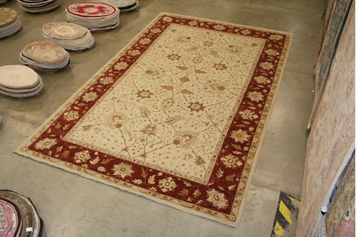 100% Wool Cream Indo Agra Rug Design IZA037081 800 x 501 Handknotted in India with a 20mm pile