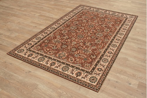 100% Wool Rust Kashmir Woven Rug Design Machine Woven T5 Grade in Belgium with a 10mm pile