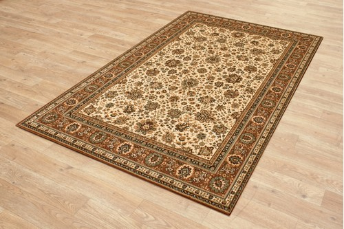 100% Wool Cream Kashmir Woven Rug Design Machine Woven T5 Grade in Belgium with a 10mm pile