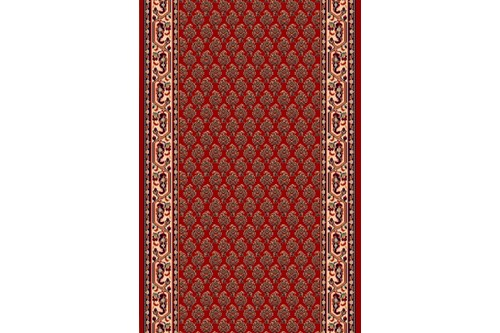 100% Wool Red Machine Woven in Belgium with a 10mm pile