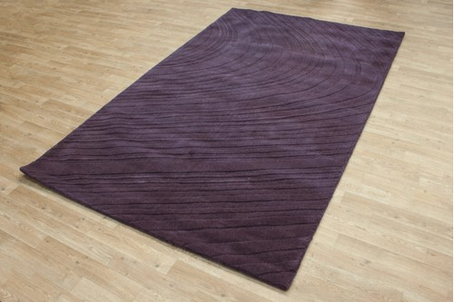 100% Wool Purple Laura Jade Indian Rug Design Handmade in India with a 18mm pile