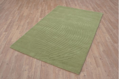 100% Wool Green Laura Jade Indian Rug Design Handmade in India with a 18mm pile
