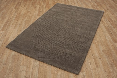 100% Wool Brown Laura Jade Indian Rug Design Handmade in India with a 18mm pile