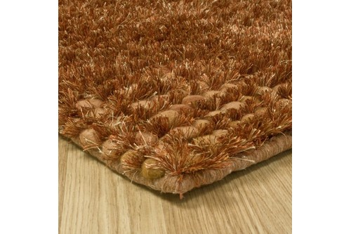 50% Wool / 30% Polyester / 20% Cotton Rust Nourison Fantasia Rug Design Handmade in India with a 25mm pile