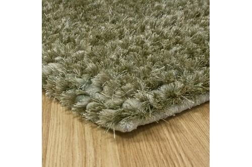 50% Wool / 30% Polyester / 20% Cotton Green Nourison Fantasia Rug Design Handmade in India with a 25mm pile