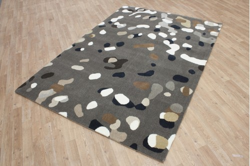 70% Wool / 30% Acrylic Multi Modern Machine made rug Machine Woven in Holland with a 15mm pile