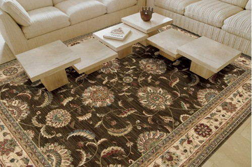 100% Wool Brown Nourison Living Treasures Rug Design Machine Woven in China with a 10mm pile