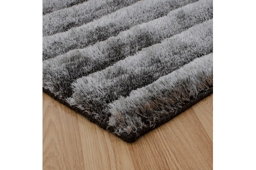 100% Polyester Grey Nourison Urban Safari Rug Design Handmade in India with a 20mm pile