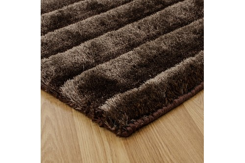 100% Polyester Brown Nourison Urban Safari Rug Design Handmade in India with a 20mm pile