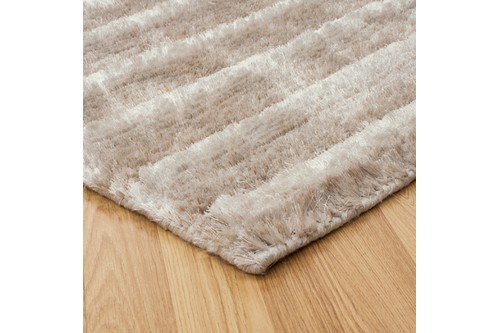 100% Polyester Beige Nourison Urban Safari Rug Design Handmade in India with a 20mm pile