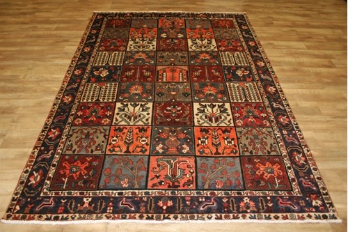 100% Wool Multi Persian Bakhtiar Rug PBA024CHE 305 x 213 Handknotted in Iran with a 16mm pile
