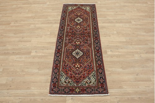 100% Wool Multi coloured Persian Goltuch Runner PGH041000 187x61 Handknotted in Iran with a 10mm pile