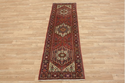 100% Wool Multi coloured Persian Goltuch Runner PGH041000 204x58 Handknotted in Iran with a 10mm pile