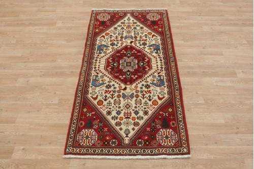 100% Wool Multi coloured Persian Ghashahayi Rug PGI041CHE 158x74 Handknotted in Iran with a 10mm pile