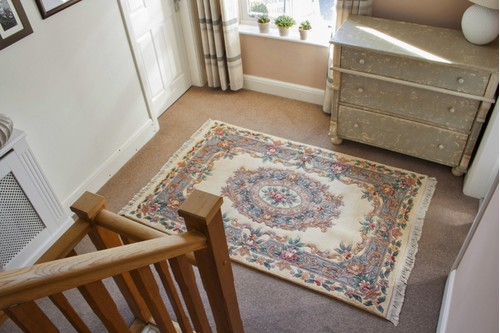100% Wool Cream Premier Superwashed Chinese Rug D.132 Handknotted in China with a 25mm pile