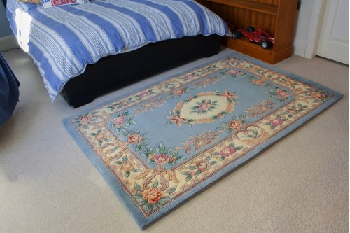 100% Wool Blue Premier Superwashed Chinese Rug D.208 Handknotted in China with a 25mm pile
