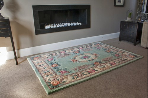 100% Wool Green Premier Superwashed Chinese Rug D.292 Handknotted in China with a 25mm pile