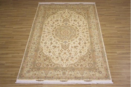 100% Wool Cream Persian Tabriz Rug PTA023F75 312x203 Handknotted in Iran with a 10mm pile