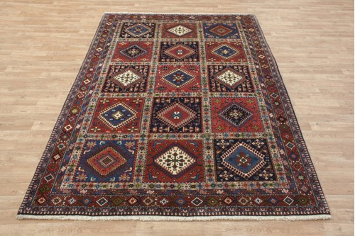 100% Wool Multi coloured Persian Yalameh Rug PYA021FIN 242x174 Handknotted in Iran with a 11mm pile