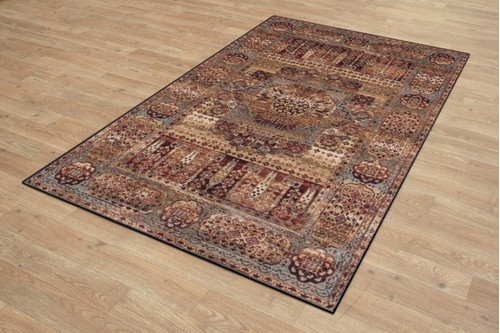 100% Wool Multi Royal Keshan Rug Design Machine Woven in Egypt with a 10mm pile