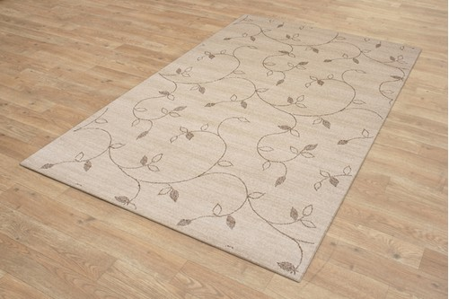 100% Wool Cream Luxor Modern Rug Design Machine Woven in Egypt with a 10mm pile