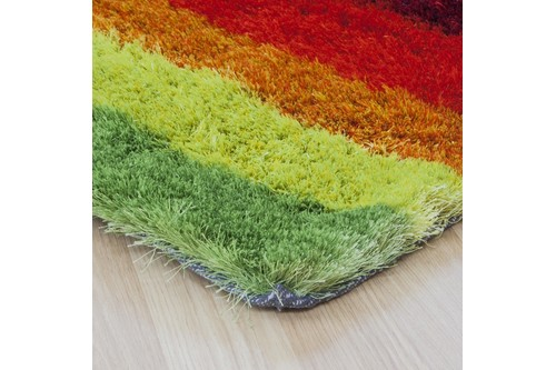 100% Polyester Multi Arte Espina Shaggy Rug Design Handmade in China with a 30mm pile Image 2