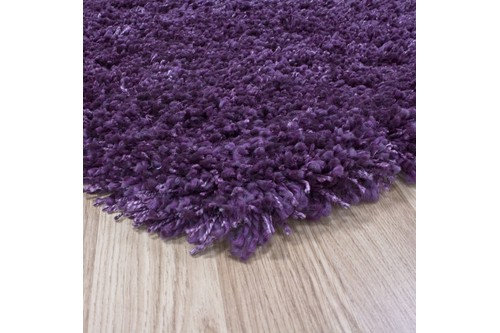 100% Polypropylene Purple Lippa Polypropylene Shaggy Rug ZLP007 Machine Made in Belgium with a 40mm pile