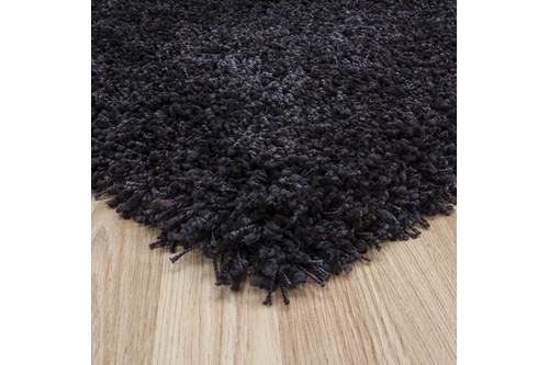 100% Polypropylene Brown Lippa Polypropylene Shaggy Rug ZLP012 Machine Made in Belgium with a 40mm pile