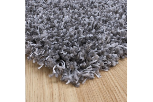 100% Polypropylene Grey Lippa Polypropylene Shaggy Rug ZLP014 Machine Made in Belgium with a 40mm pile