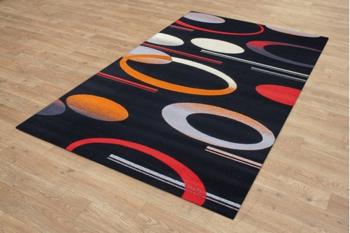 Mohatta Modern Woven Rug ZMO820 100% Wool Machine Made 10mm